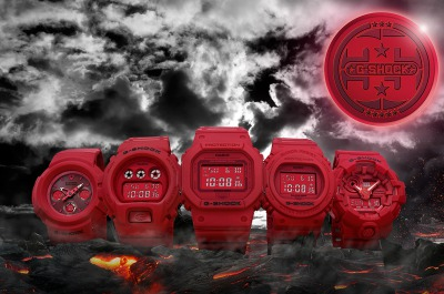【G-SHOCK】誕生35周年記念モデル「RED OUT」本日より発売開始♪